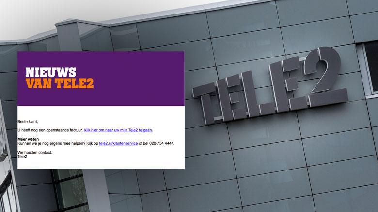 Valse e-mail 'Tele2' over factuur