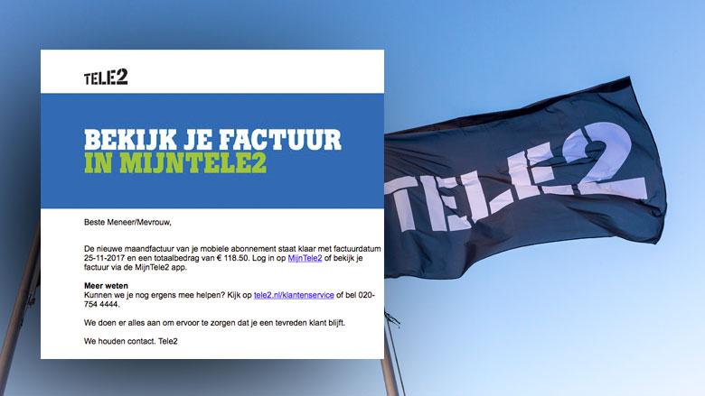 Pas op voor valse e-mail 'Tele2' over maandfactuur