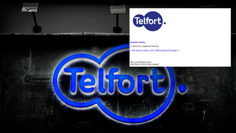Valse e-mail uit naam Telfort over ongelezen bericht