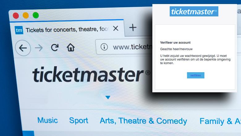 Ticketmaster: 'Laat je niet beetnemen door nepmails!'