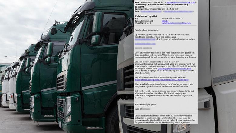 Pas op voor valse e-mails transportbedrijven