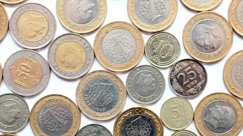 Let op: Turkse lira's uitgegeven als euromunten