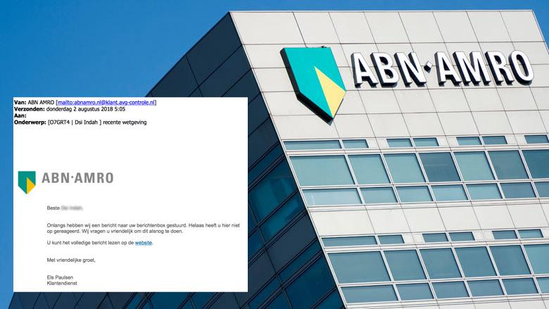 Valse e-mail ABN AMRO: 'recente wetgeving'