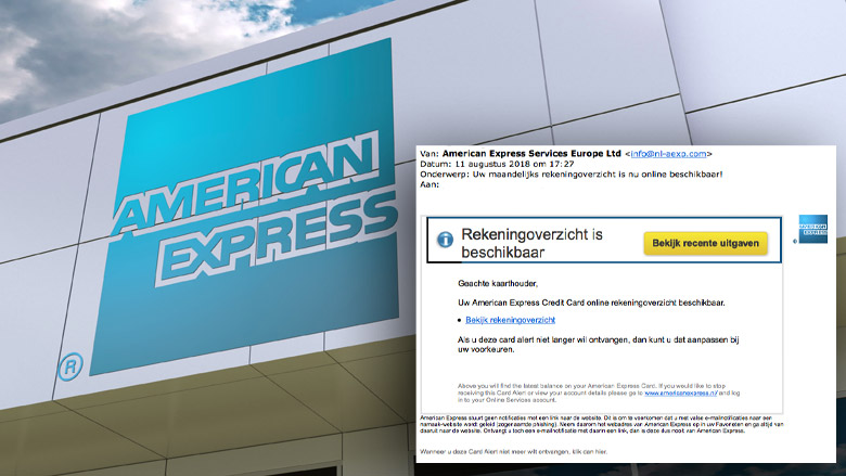 Let op! Valse e-mail 'American Express' in omloop