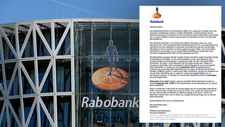 Phishingmail 'Rabobank' nog steeds in omloop