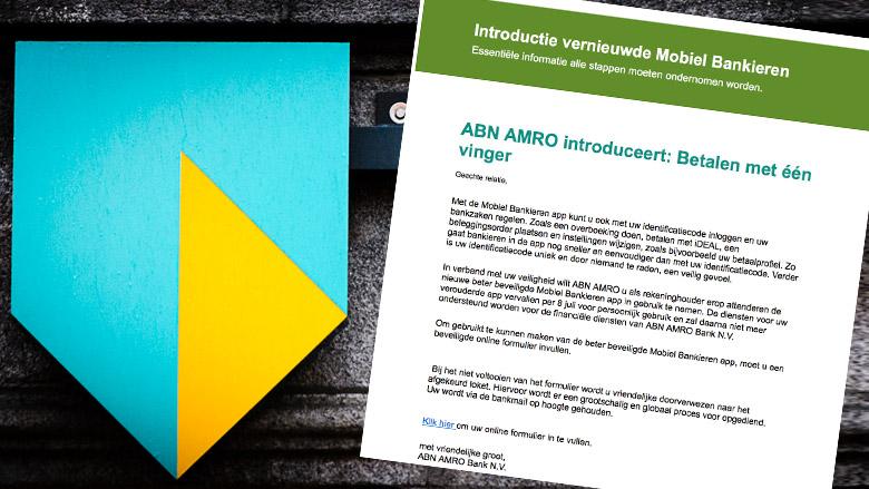 Valse e-mail ABN AMRO: 'Betalen met één vinger'