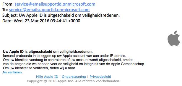 'Uw Apple ID is uitgeschakeld'