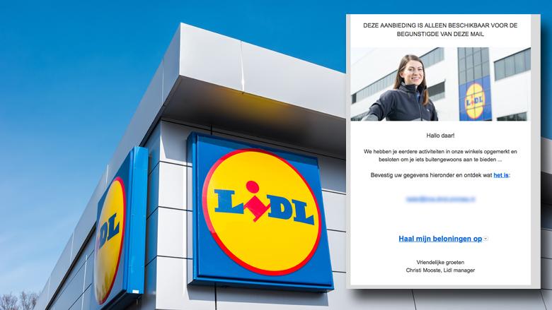 Trap niet in valse winactie Lidl 'buitengewone prijs'