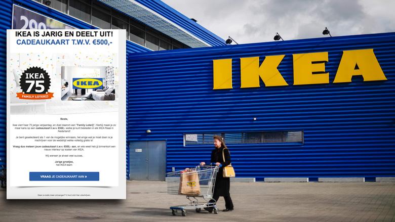 Trap niet in valse winactie 'IKEA'