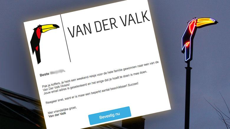 Gewonnen reisje 'Van der Valk' blijkt valse winactie