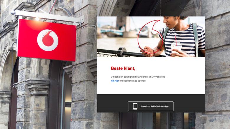 Phishingmail 'Vodafone' over nieuw bericht