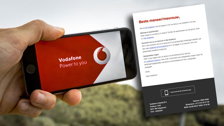 Weer spookfacturen uit naam van Vodafone