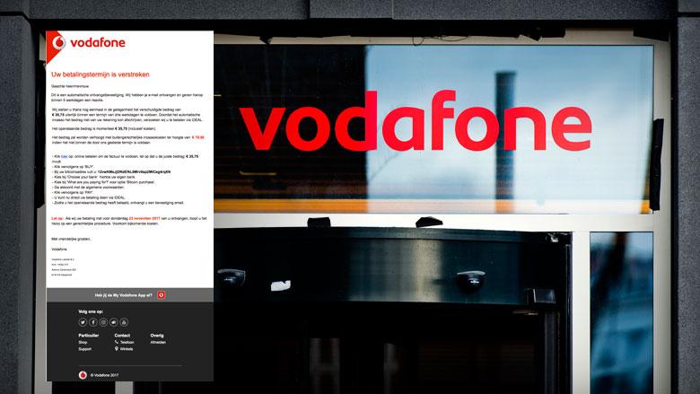 Valse e-mail 'Vodafone' over verstreken betalingstermijn duikt weer op