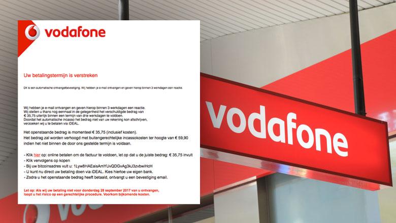Valse e-mails Vodafone blijven binnenstromen