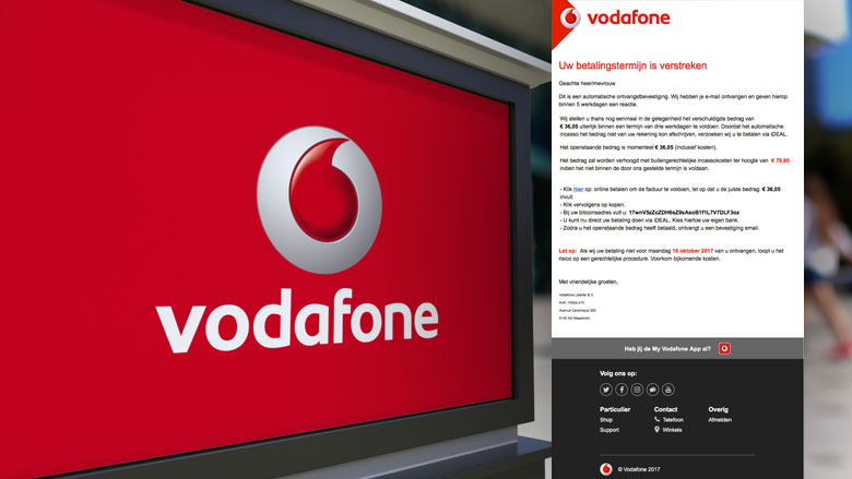 'Betalingstermijn'-mail 'Vodafone' blijft in omloop