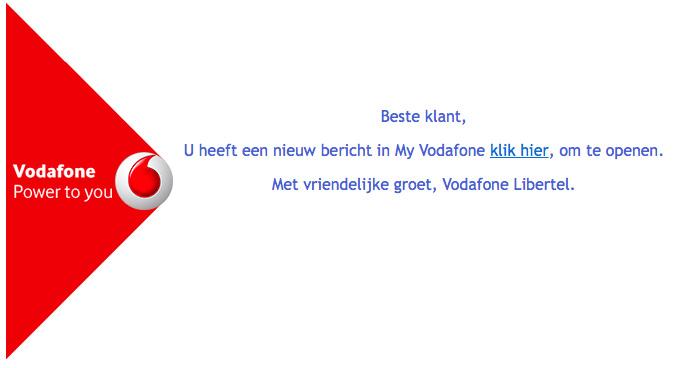 Let op voor valse e-mail 'Vodafone'
