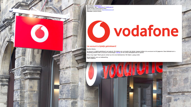 Fraudeurs uit op je Vodafone inloggegevens