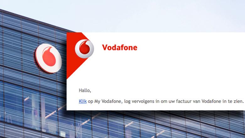 Phishingsite 'Vodafone' lastig te onderscheiden van echte website