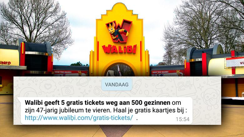 Pas op! WhatsApp-bericht 'Walibi' is nep