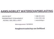 Nepaanslagen waterschapsbelasting verstuurd