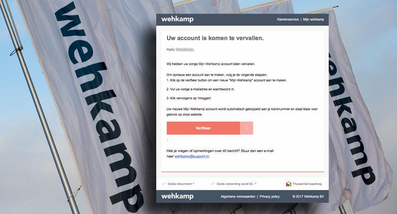 Phishingmail 'Wehkamp' vist naar gegevens