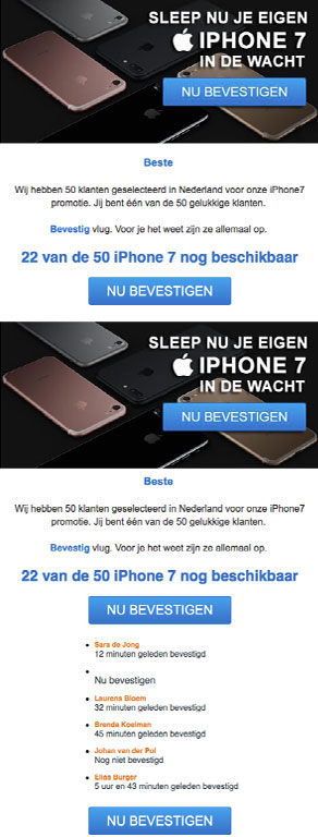 Valse winactie: iPhone 7