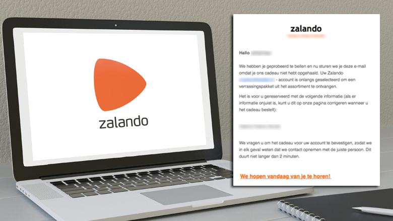 Opnieuw valse mails van 'Zalando' over verrassingspakket