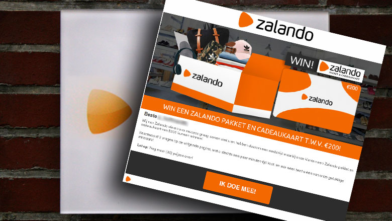Winactie 'Zalando' is vals