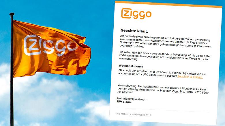 E-mail 'Ziggo' over nieuw bericht is vals