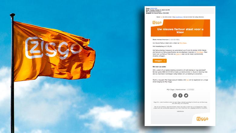 Afzenders van 'Ziggo'-phishingmail zijn uit op je accountgegevens