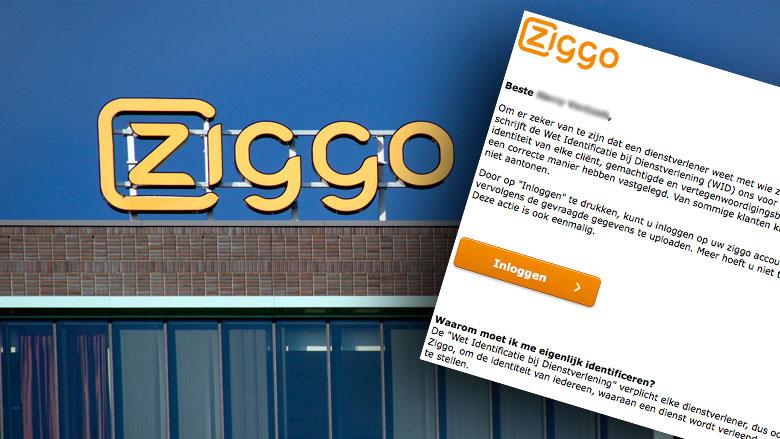 Phishingmail 'Ziggo' over identificatieplicht lijkt net echt
