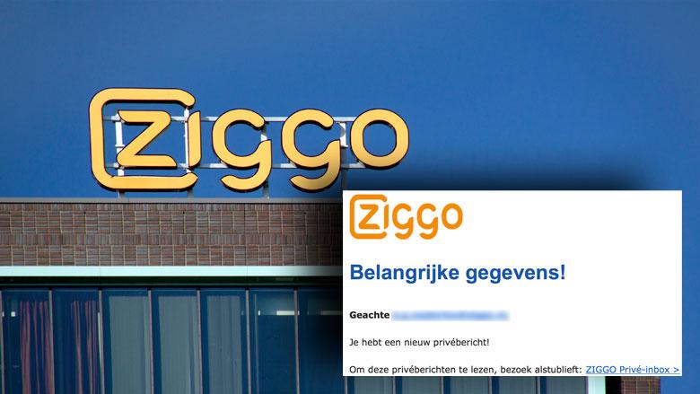 Pas op voor phishingmail 'Ziggo' over privébericht