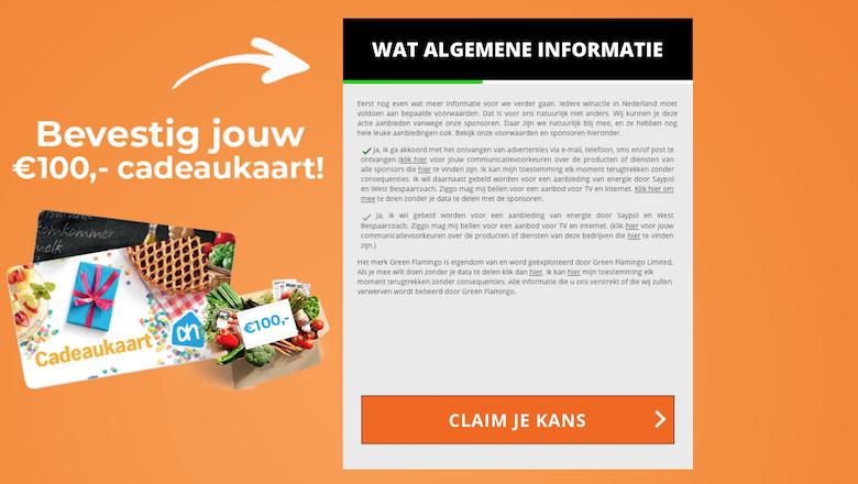 75003f8a6e4 Ga niet in op misleidende winactie 'Albert Heijn' - Opgelicht ...