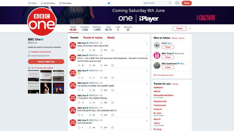 Bizarre tweets van BBC, Twitter-account lijkt gehackt
