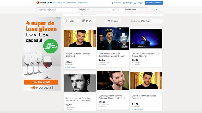 Kaartjes kopen voor Eurovisie-winnaar Duncan Laurence? Pas op voor ticketfraude
