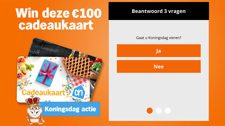'Albert Heijn' Koningsdag-winactie is vals!