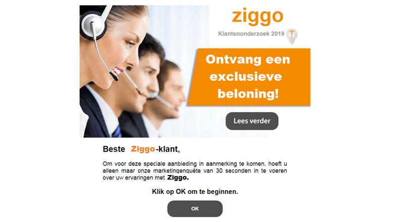E-mail van 'Ziggo' gekregen? Deze is vals