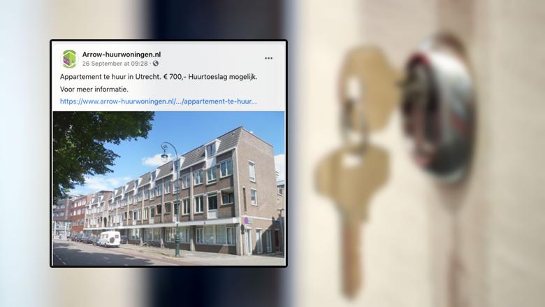 Oplichters van Arrow-huurwoningen.nl bieden niet-bestaande huurwoningen aan op Marktplaats en Facebook