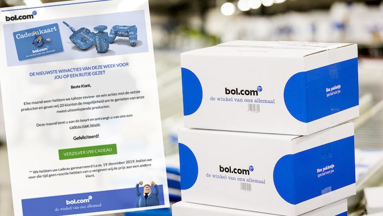 Malware in misleidende winactie uit naam van 'Bol.com'