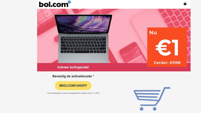 Opgelet: 'Bol.com' verkoopt geen laptop met speciale korting