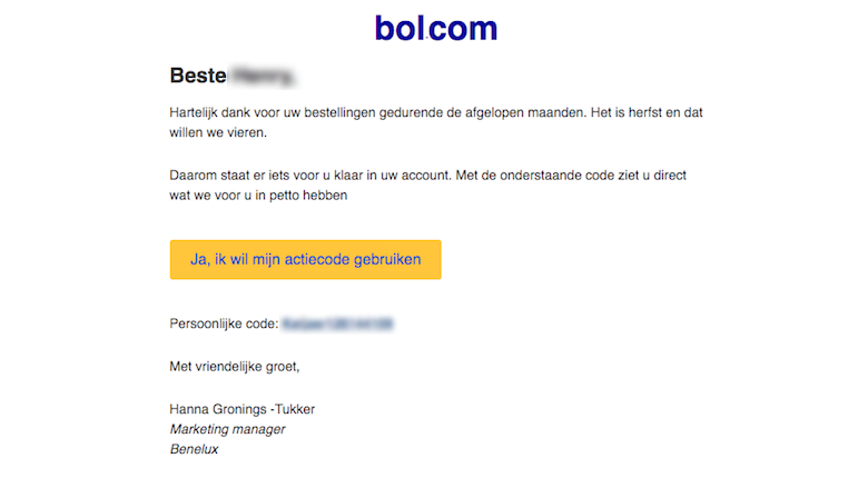Valse mail van 'Bol.com'