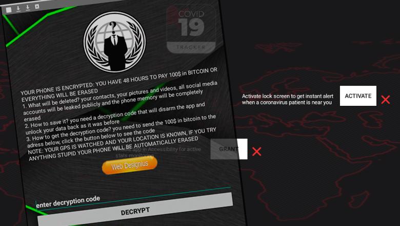 Corona-tracker voor Android-toestellen bevat ransomware