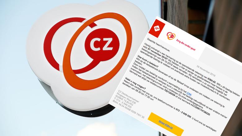 Nieuwe spookfactuur namens 'CZ' in omloop