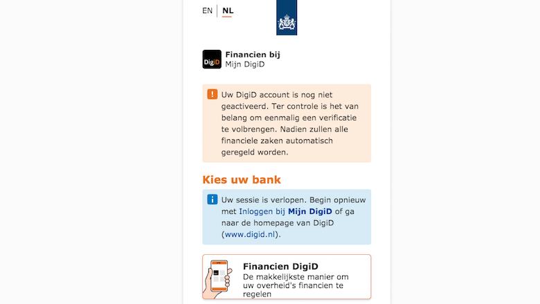 Valse website van 'DigiD'