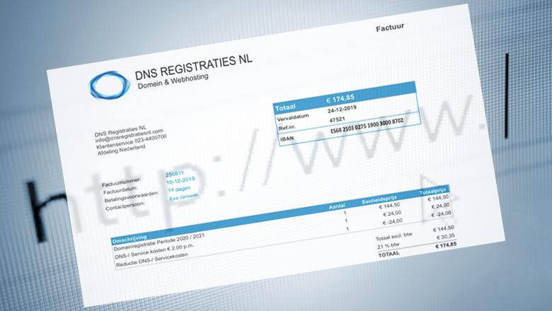DNS Registraties NL stuurt spookfacturen voor registratie van domeinnamen
