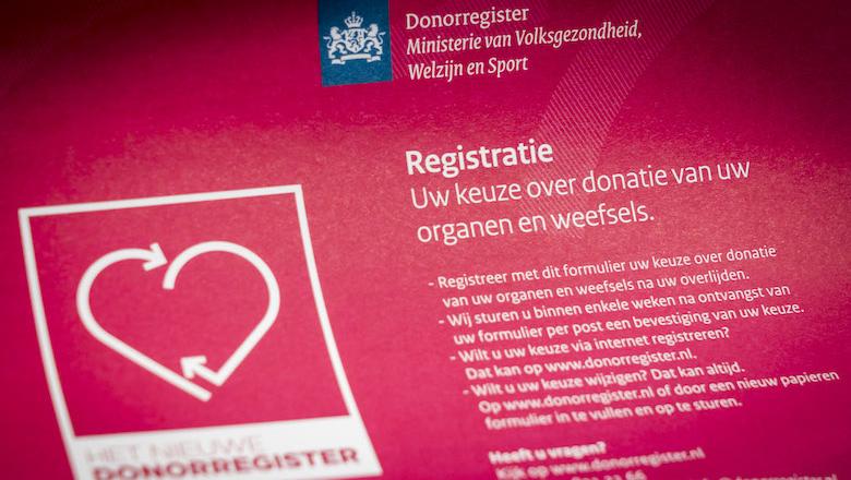 Datalek bij Donorregister betreft gegevens van zes miljoen Nederlanders