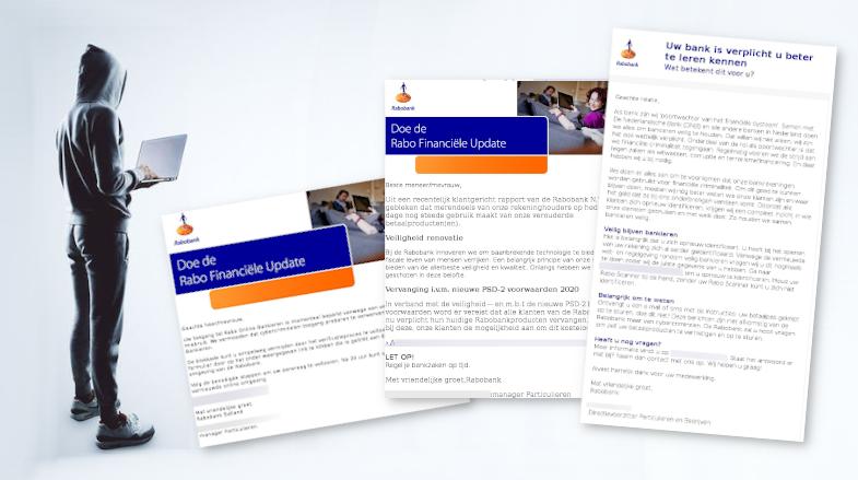 Drie valse mails 'Rabobank gaat financiële criminaliteit tegen' in omloop