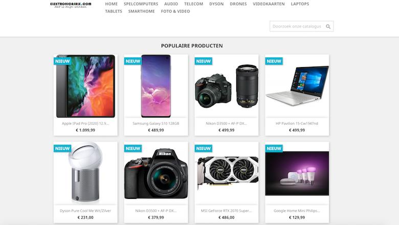 Politie: 'Elektronicasale.com is een onbetrouwbare webshop'
