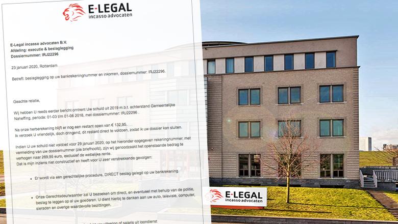 Overtuigende nepmail over beslaglegging van e-Legal Incasso Advocaten is vals