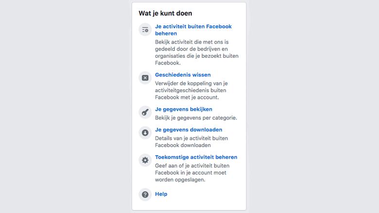 Opties in het Nederlands